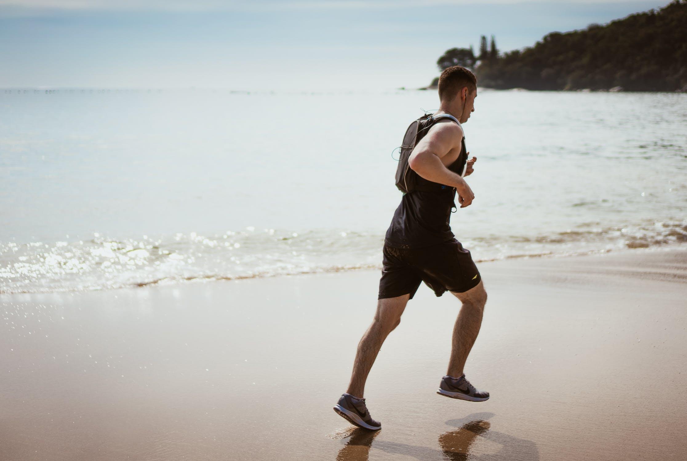 Løbetur på strand