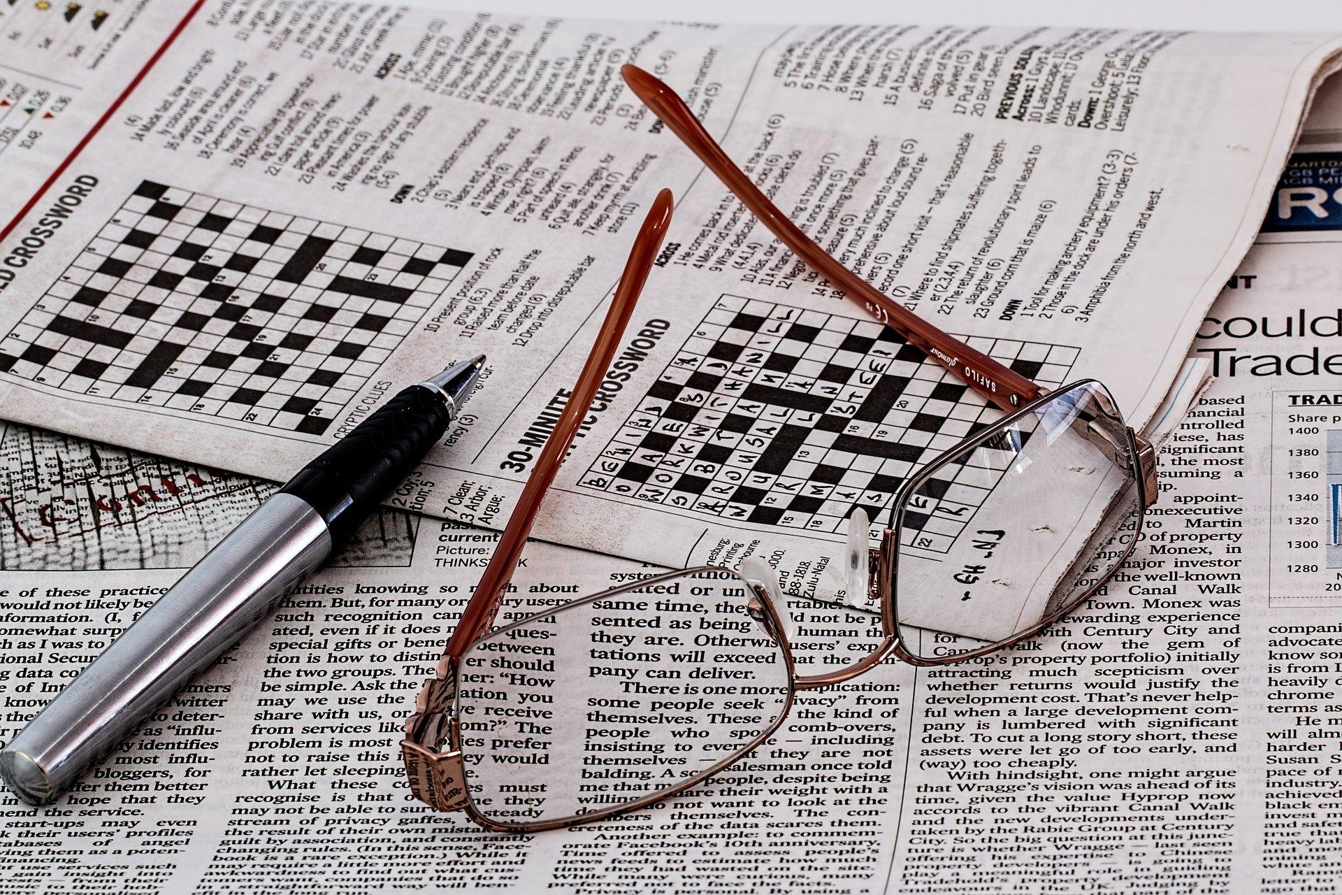 krydsord og briller